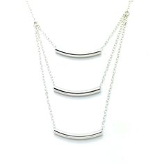 "Stairway to Heaven is a 16"" Long Sterling Silver Chain Necklace with 3 Sterling Tube Beads Which are Each 1"" in Length. The Necklace Measures 18"" to the Bottom Tube. Product #15-067"