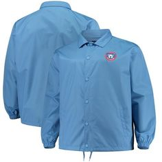 4bcb22c04ce Chicago Cubs Majestic Big   Tall Heavy Jacket - Light Blue