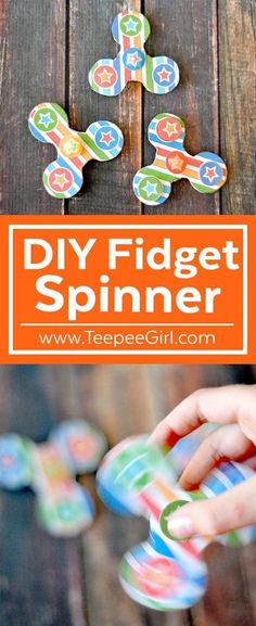 This DIY Fidget Spinner is so fun and easy to make! Get this printable & instructions at www.TepeeGirl.com. You'll have your own DIY fidget spinner in minutes!