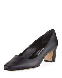 Bow Shoes, Me Too Shoes, Manolo Blahnik Heels, Black Pumps Heels, Designer Heels, Fashion Heels, Black Kids, Leather Pumps, Places