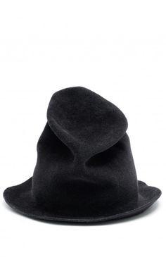 4360bb48dac Your Hat Number grey rabbit fur sculptured hat online at unconventional Hats  Online