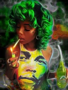 icu ~ Pin on Black girl magic art ~ This Pin was discovered by soleo allen. Discover (and save! Sexy Black Art, Black Love Art, Black Girl Art, Art Girl, African American Art, African Art, Arte Black, Marijuana Art, Cannabis