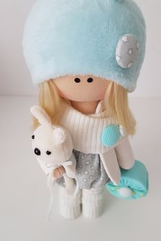 Items similar to Bunny Handmade soft fabric christmas doll toys rag doll Textile interior doll blonde birthday gift home decor doll with Bunny doll gift on Etsy Special Girl, Handmade Items, Handmade Gifts, Fabric Dolls, Girl Gifts, Doll Toys, Soft Fabrics, Diy And Crafts, Birthday Gifts