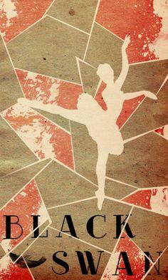 Black Swan (2010) ~ Alternative Movie Poster by Travis English #amusementphile