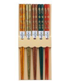 Look at this #zulilyfind! Floral Chopsticks Set #zulilyfinds