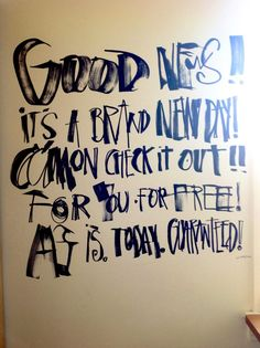 Lettering Quote by David Carson, via From up North