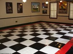 garage floor tiles (my dad used to have this in his nascar room)