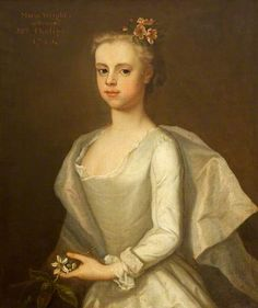 Called 'Maria Wright, Mrs. Edward Phelips V, as a Girl (about age 10 in this painting) ~ 1740, Michael Dahl I