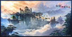 《仙剑奇侠传5》场景设计图 - Google Search Paladin, Google Images, Painting, Watercolors, Sword, Fairy, Chinese, Water Colors, Painting Art