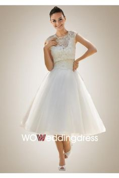 Classic Embroidered Lace and Tulle Wedding Dress