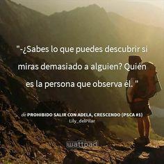 "Historia Wattpad ""Prohibido salir con Adela"" Lily del Pilar"