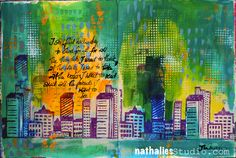 """Nathalie Kalbach - More hours or …. In My Art Journal Today - """"I still find each day too short for all the thoughts I want to think, all the walks I want to take, all the books I want to read and all the friends I want to see!"""" John Burroghs"""