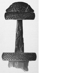 "J. Petersen ""Type E"" Sword (Carolingian-Viking Era_800 BCE) Handle and Hilt."