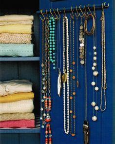 Jewelry display DIY as seen in Martha Stewart Living
