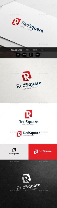 R Red Square Real Estate - Logo Design Template Vector #logotype Download it here: http://graphicriver.net/item/r-logo-red-square-real-estate/11913262?s_rank=518?ref=nesto
