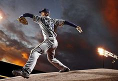 Extreme Athletic Photography -  These Tim Tadder Sports Captures are Highly Detailed #sports #baseball #photography