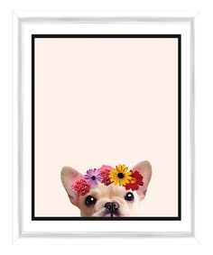 PTM Images Flower Child Puppy Framed Giclee Print | zulily