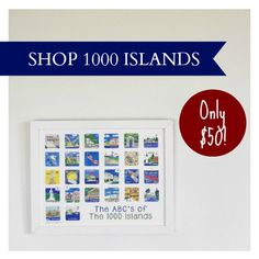 The ABC's of the 1000 Islands from the Karyn Burns Limited Edition Minnies Collection.  The PERFECT River holiday gift! Only 25 available, so shop now!