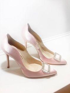 Розовые Peep Toe насосы