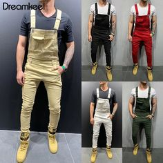 casual for men Denim Romper, Jeans Jumpsuit, Casual Jumpsuit, Denim Overalls, Jeans Pants, Dungarees, Dress Casual, Slim Fit Ripped Jeans, Overalls Outfit