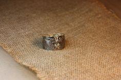 Ring, made of old silverspoons. Handmade by Goldsmith Sanna Hytönen, Suolahti.  http://www.kultaseppasannahytonen.com/