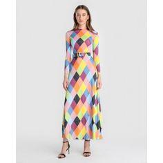 c4163c2fe3 Buy María Escoté Vestido largo de mujer María Escoté realizado en seda Estampado  Mujer Vestidos Largo