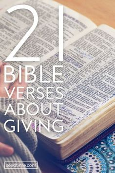 21 Great Bible Verses About Giving (What Does The Bible Say?)