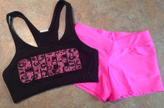 Custom Glitter & Leopard Print Cheer Set - Sports Bra and  Hot Shorts - Dance Gymnastics - Multiple Color Options on Etsy, $40.00