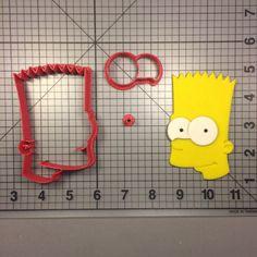 The Simpsons- Bart Simpson 100 Cookie Cutter Set JBCookieCutters.com customizes moldings, cookie cutters, cookie cutter, cutters, cutter, silicone mold, silicone molds, stencil, stencils, baking supplies, baking
