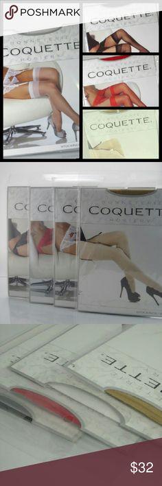 Coquette Skin Seam Thigh Stockings Black