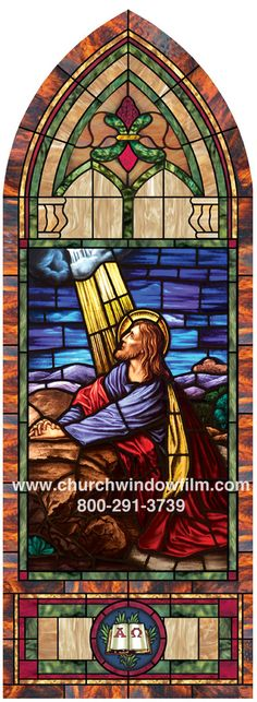 Custom window film layout with added deluxe medallion and accent round medallion below. Stained Glass Window Film, Church Windows, Window Films, Spiderman, Easter, Layout, Christian, Gallery, Design