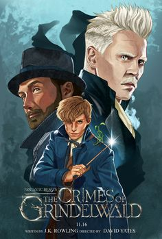Fantastic Beasts: The Crimes of Grindelwald by Ryan Ahmad Yunus Posters Harry Potter, Harry Potter Sketch, Mundo Harry Potter, Harry Potter Fan Art, Harry Potter Movies, Harry Potter World, Fantastic Beasts Poster, Fantastic Beasts And Where, Johnny Depp