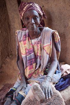 A lady in Mali, west Africa