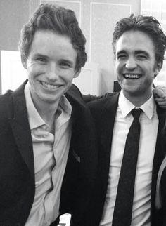 Rob with Eddie Redmayne, August 2014