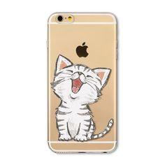 For Apple iPhone 6 6s Plus 4 4S 5 5S SE 5C 6Plus Case Soft TPU Silicon Transparent Thin Cover Black Cat, Owl, Rabbit, Animal Phone Case