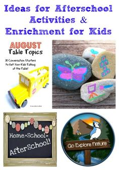 150+ great ideas for Back to School and After School Activities!