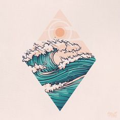 Aloha vibes Aloha vibes Aloha vibes by onevibegraphic art inspiration Aloha vibes Aloha vibes by onevibegraphic art inspiration Tattoo Drawings, Art Drawings, Tattoo Ink, Doodle Drawing, Tattoo Designs, Ocean Tattoos, Ocean Wave Tattoo, Hawaii Tattoos, Graphic Art