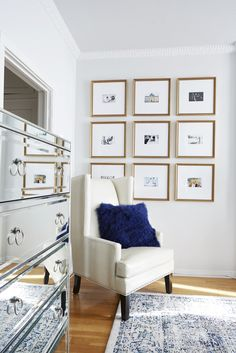9 Square Gallery Wall with placement measurements