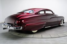 Burgundy 1950 Mercury