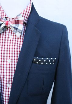 "I never grow tired of the red, white and blue color combination!  So classic and always ""in""!  Vintage Mens Preppy Nautical Navy Sport Coat by ViVifyVintage"