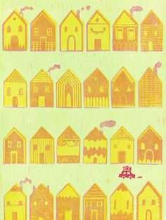 Nice house pattern by Jing Wei Illustration.