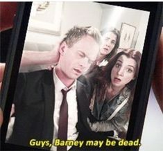 Guys Barney may be dead! Ted Mosby, Movies And Series, Tv Series, Marshall Eriksen, Lily Aldrin, How Met Your Mother, Robin Scherbatsky, Yellow Umbrella, Thank You Mom