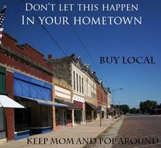 #BuyLocal #ShopLocal  visit http://www.independentwestand.org/support-independent-business/search/ to find local businesses in your area