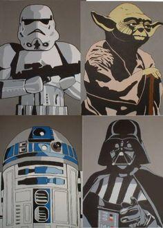 star wars pop art painting