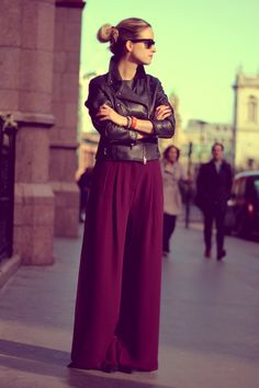 Palazzo Pants- Want to wear this today!!!How can you not wear these. hides a multiple of sins...make it work