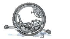 Modern Steam Monobike 1896 by on DeviantArt Monocycle, Bmw Motorbikes, Powered Wheelchair, Art Inspiration Drawing, Self Design, Dieselpunk, Concept Cars, Steampunk, Deviantart