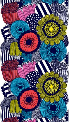 Marimekko fabric (http://cimmermann.co.uk/blog/scandinavian-style-uncovered/)