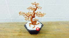 How To Make Bonsai Tree Wire Copper wire tree wire leafs wire_leafs 2stand flowerpot
