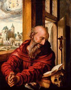 Saint Jerome as a Monk - Jan van Hemessen