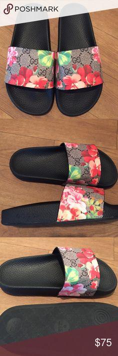 Floral slides size 5.5 in women (never worn) Floral slides size 5.5 in women (never worn) Shoes Slippers